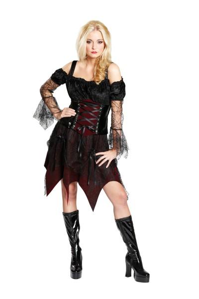 gothic queen damenkost m halloween outfit kost mfest karneval verkleidung. Black Bedroom Furniture Sets. Home Design Ideas