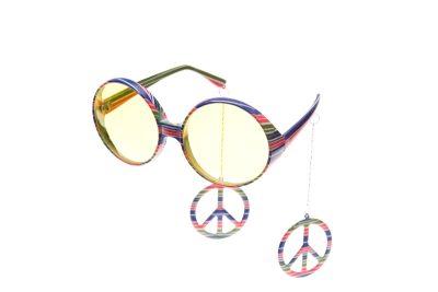 hippie peace 70er 80er jahre brille karneval fasching. Black Bedroom Furniture Sets. Home Design Ideas