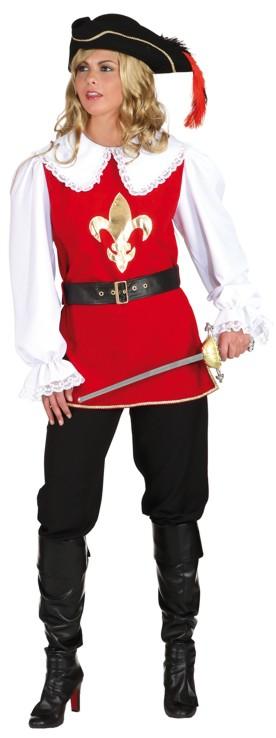 Musketier Dame Xxl Oberteil Faschingskostum Mittelalter Damenkostum