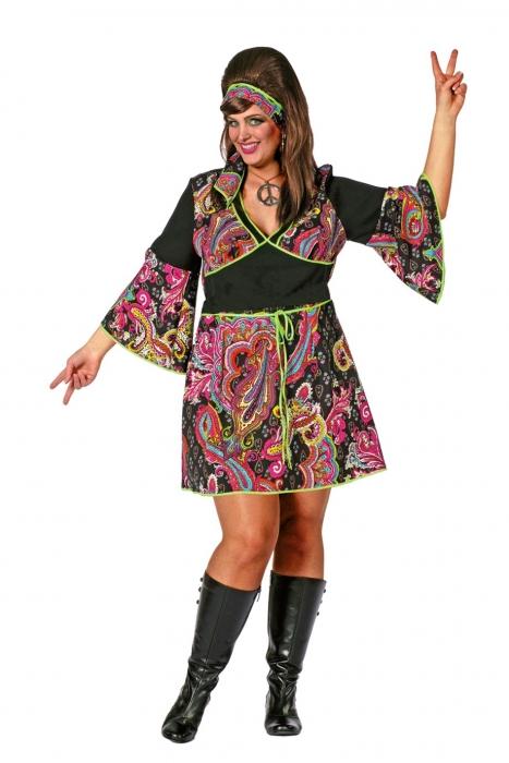 gro e gr en hippie lady damenkost m xxl 70er jahre flower power mode. Black Bedroom Furniture Sets. Home Design Ideas