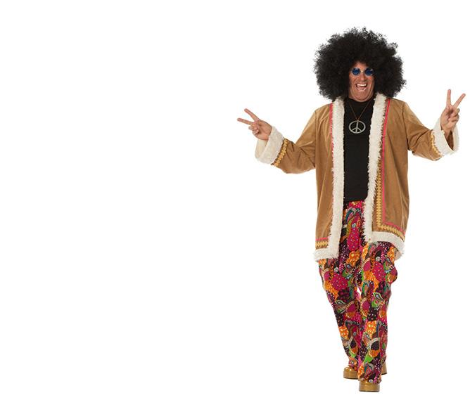 damen hippie kostüm xxl